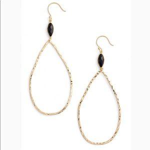 Gorjana Lola Gemstone Teardrop Hoop Earrings